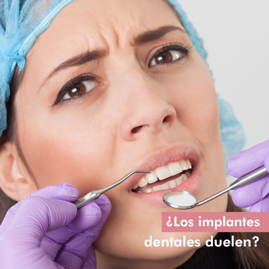 ¿Los implantes dentales duelen?